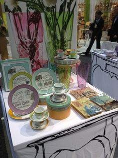 The French Cafe, Une Petite Tasse de Cafe, Etched Vases, and Paris Decoupage Tray collections. Tres spring!