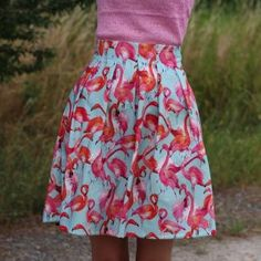 Flamingo Chardon Rock Waist Skirt, Midi Skirt, High Waisted Skirt, Rock, Flamingo, Blog, Sewing, Floral, Skirts