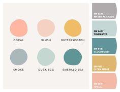 Paint colors from ColorSnap by Sherwin-Williams Colour Pallette, Colour Schemes, Color Combos, Spring Color Palette, Pastel Palette, Coperate Design, Deco Design, Cores Rgb, Colour Board