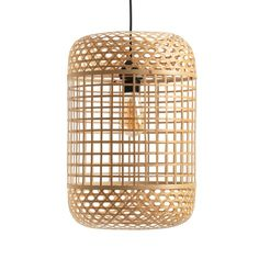 Cordo Birdcage-Style Woven Bamboo Pendant Shade LA REDOUTE INTERIEURS Inspired by birdcage designs, this charming light fixture is crafted from hand woven bamboo in two matching patterns, the Cordo shade diffuses light.
