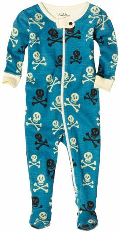 Amazon.com: Hatley Baby Boys Skulls All Over Print Footed Coverall, Hidden Lake, 18-24 Months: Clothing