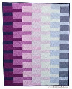 "Delightful ""Meridian"" quilt in a Radiant Orchid palette by Adrianne Ove of The Little Bluebird."
