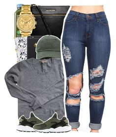 """""""12:10 A.M."""" by yeauxbriana on Polyvore featuring MICHAEL Michael Kors, Lacoste, Sandro and NIKE"""