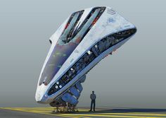 Concept art for a flying vehicle