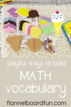 Simple, fun way to get your kids (at home or in a preschool classroom) learning and using math vocabulary. Hint: play! #flannelboardfun #play #math Creative Teaching, Teaching Tips, Teaching Math, Simple Math, Basic Math, Preschool Science, Preschool Classroom, Fun Math Games, Preschool Activities