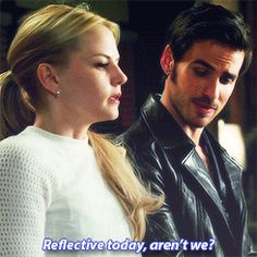 """Reflective today, aren't we?"" Hook and Emma - 4 * 5 ""Breaking Glass."""