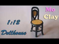 ▶ DIY Dollhouse polymer clay chair - Sedia scala 1:12 - Casa de muñecas: Silla - YouTube
