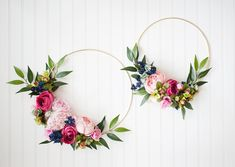 Custom Listing for Jena - Birthday Set, Rifle Paper Co Style Floral Gold Hoops, Floral Number One, Spring Wreaths Floral Clock, First Birthday Decorations, Happy House, Spring Wreaths, Rifle Paper Co, Jena, Gold Hoops, Toddler Crafts, Number One