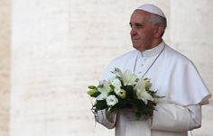 Pope Francis.White Roses.Therese.Mexico