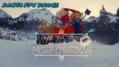 Real Flying Santa Claus Drone is coming down from the Snowy Northpole to bring the presents in time with his new Drone sleight. Flying Santa Claus in h. Very Merry Christmas, White Christmas, Christmas Lights, Christmas Time, Build Drone, Have A Nice Trip, New Drone, Snowy Trees, Santa Sleigh