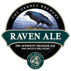 Men's T-Shirt, Raven Ale Beer Label, Ideal Gift Or Birthday Present