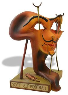 Self-portrait Salvador Dali Fried Bacon Sculpture