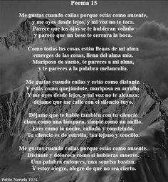 Poema XV - Pablo Neruda - RQCh Blog | Pablo Neruda Poema