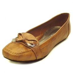 Comfy Flats with a Bow.