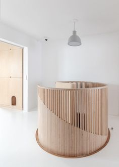 A Parisian Apartment Renovated for a Young Family and Their Cat Stairs Design Apartment Cat Family Parisian Renovated Young Interior Stairs, Interior Architecture, Round Stairs, Flur Design, Escalier Design, Stair Handrail, Railings, Duplex Apartment, Apartment Renovation