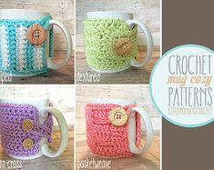 PDF PATTERN Mug Cozy criss cross coffee door LittleMonkeysCrochet