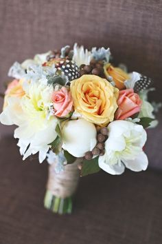 Lovely bouquet by Rebecca of Fox & Rabbit