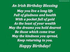 Irish birthday blessing
