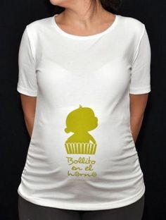 Día de la Madre  camiseta bollito en el horno para la futura mamá c088364bdfda9