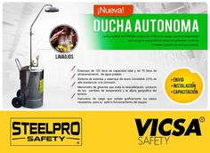 [STEELPRO: Ducha Autónoma Movible INOX]  Conoce nuestros productos en: http://www.vicsasafety.com.pe/inicio  Consulta con tu asesor de ventas. Contáctanos: 715-7200 / ventas@vicsasafety.com.pe Twitter: @VicsaSafPeru Pinterest: VICSA Safety