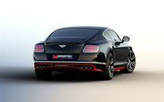 Lataa kuva Bentley Continental GT, 2017, mulliner, Tuning Bentley, musta Manner, luxury coupe, urheilu autot, Bentley