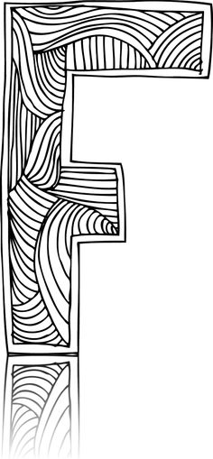 Have a fun time coloring in this letter F to your fancy!