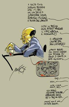nella genialità della risata la critica a quel soggetto di Bersani