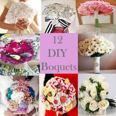 12 DIY Boquets Twobroadsdesignsblog.com  @Ashly Nichole They have specific one for a daisy bouquet