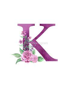 'Monogram K Lovely Rose Bouquet' Poster by floralmonogram <br> Poster Monogram Wallpaper, Alphabet Wallpaper, Name Wallpaper, Cartoon Wallpaper, Iphone Wallpaper, Alphabet Images, Alphabet Design, Alphabet Art, Letter Art