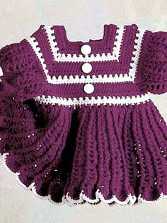 """""""Little Lindsey"""" Crochet Dress - Available in sizes 12, 18, & 24 months. $59.95"""