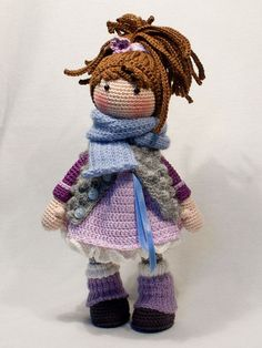 Ganchillo patrones para muñeca MIA Deutsch Inglés por CAROcreated