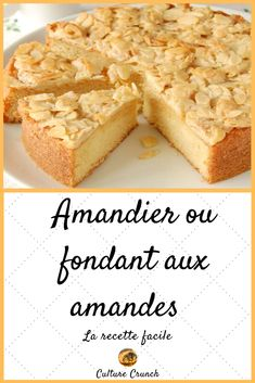 Amandier ou fondant aux amandes : la recette facile - Expolore the best and the special ideas about French recipes French Desserts, Köstliche Desserts, Delicious Desserts, French Recipes, Sweet Recipes, Cake Recipes, Dessert Recipes, Nutella Recipes, Chocolate Recipes