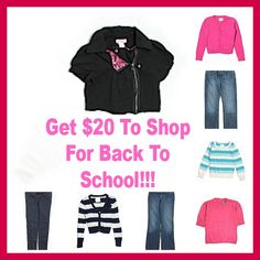 HOT #DEAL! Get $20 To Shop For Back To School - Great Brands Such As Levis, The Gap, Gymboree, Justice, Tommy Hilfiger, Ralph Lauren & More - Prices Start at $3.04!