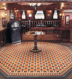 Original Style Victorian Floor Tiles Warwick Pattern