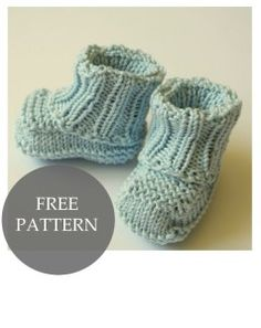 Baby booties knitting tuorial (no sewing)