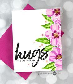 Split Card Tricks Video by Jennifer McGuire Ink Card Making Tips, Card Tricks, Homemade Christmas Cards, Handmade Christmas, Jennifer Mcguire Ink, Altenew Cards, Friendship Cards, Flower Stamp, Pretty Cards