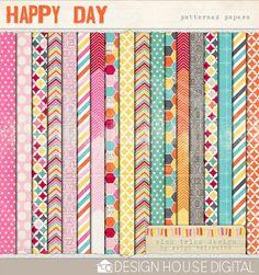 Digital Paper :: Happy Day by Robyn Meierotto