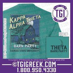 TGI Greek - Kappa Alpha Theta - Barn Party - Greek T-shirt #tgigreek #kappaalphatheta #barnparty