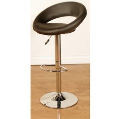Cooperative Pair Of Breakfast Bar Stools X2 Chrome Brown Furniture Home & Garden