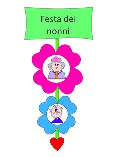 La maestra Linda: Festa dei nonni Special Day, Smurfs, Origami, Preschool, Education, Character, Anna, School, Manualidades