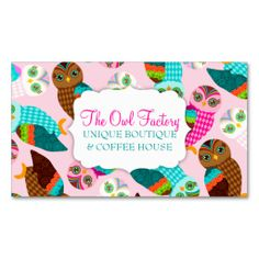 How Now Little Owls? Business Card Templates. I love this design! It is available for customization or ready to buy as is. All you need is to add your business info to this template then place the order. It will ship within 24 hours. Just click the image to make your own!