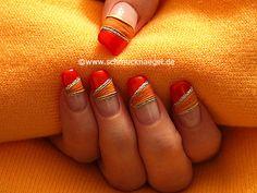 Nail art motivo 234 - Hojas secas para decoración de uñas - http://www.schmucknaegel.de/