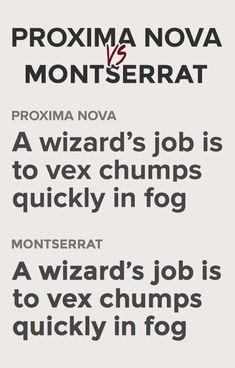 Proxima Nova и Montserrat