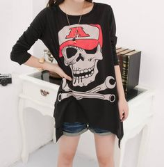 Cheap blouse top, Buy Quality blouses india directly from China blouses summer Suppliers: 2015 New Fashion Hollow T-shirts Skull T Shirt Women Clothing Summer Tops Tee Clothes Plus Size New Fashion, Fashion Outfits, Fashion Clothes, Womens Fashion, Mesh T Shirt, Cheap Blouses, Summer Outfits Women, T Shirts For Women, Clothes For Women