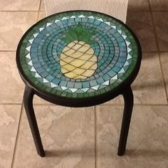 Small mosaic pineapple table for patio or by HomeandGardenMosaics, $125.00