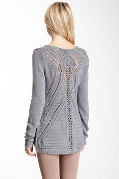 Open Knit Back Sweater