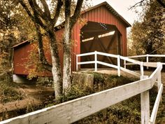 Sandy Creek Covered Bridge, originally lost to a flood and rebuilt in 1884, remaining as you see it today. It's about 45 minutes outside St. Louis
