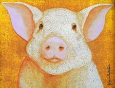 Dignified Pig Painting  - John Pinkerton