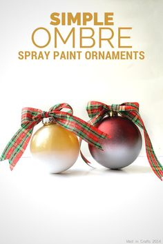 SIMPLE OMBRE ORNAMENTS Christmas Craft Projects, Christmas Decorations, Christmas Ornaments, Diy Ornaments, Holiday Decorating, Diy Projects, All Things Christmas, Christmas Holidays, Winter Holidays