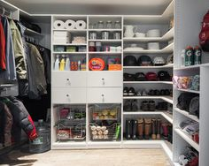 Mudroom/laundry room/office/closet- A place for everything! Hidden closet behind traditional closet.  7x10... Take space from garage